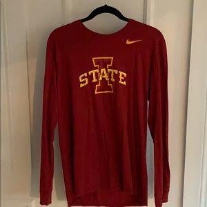 Nike Iowa State Cyclones Long Sleeve Red T-Shirt